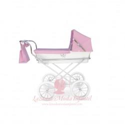Mini Donosti rosa y blanco 62 cm