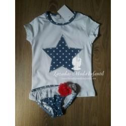 Conjunto baño estrellas azul