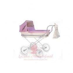Mini París rosa y beige 62 cm